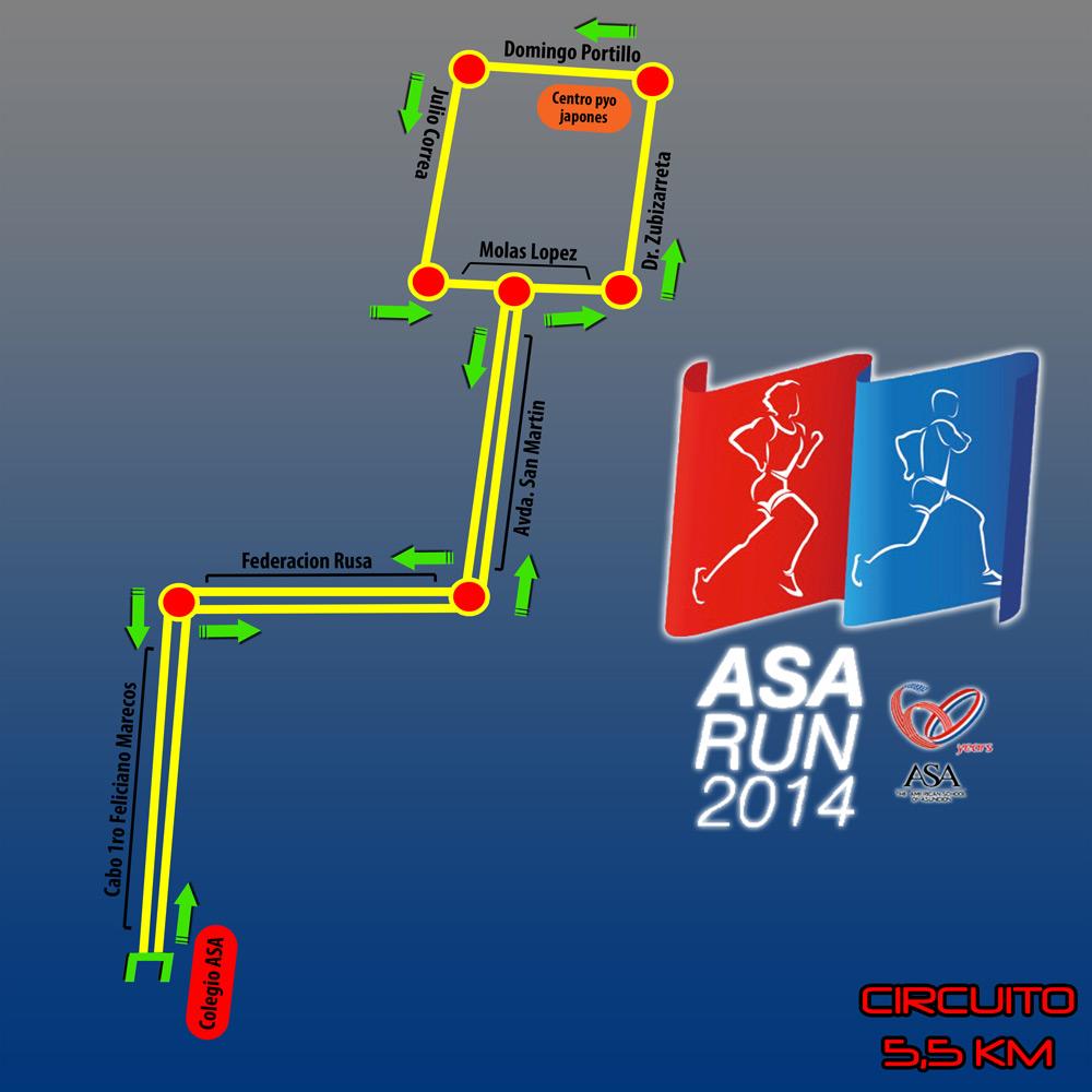 Circuito del ASA RUN 2014